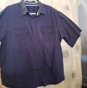 Weathered Casuals Mens Short Sleeve Shirt Sz L